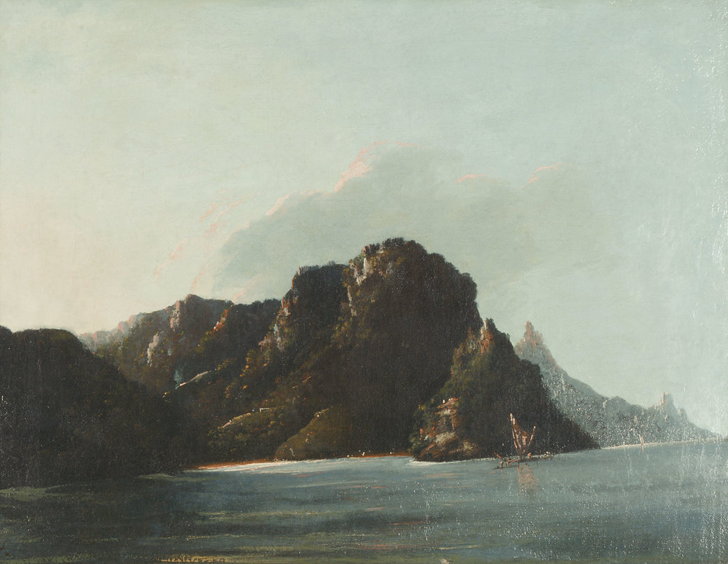 Detail of View of Resolution [Vaitahu] Bay in the Marquesas by William Hodges