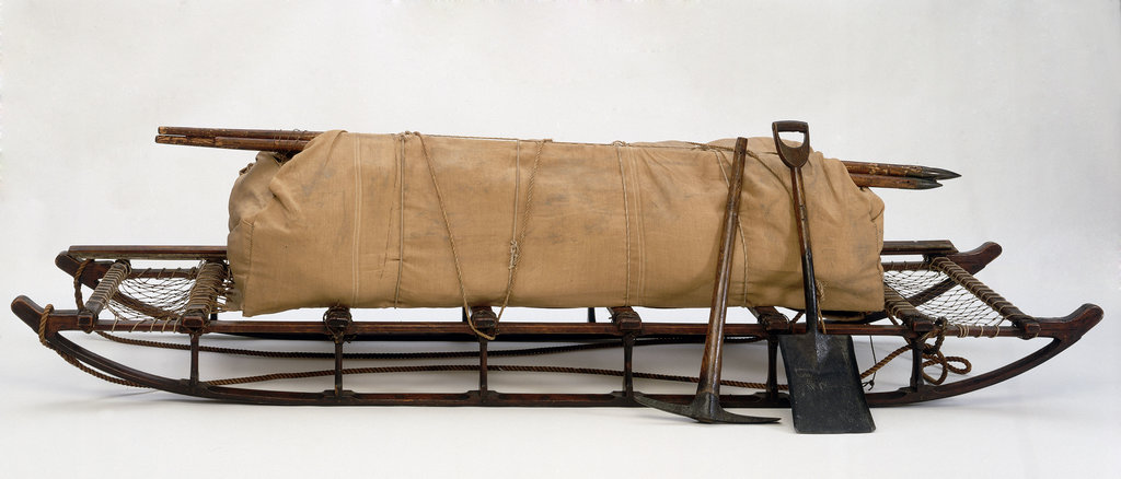 Detail of McClintock eight-man sledge used on Nares's Arctic expedition 1875-1876. by unknown