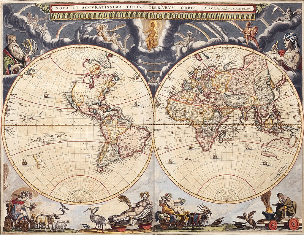 Detail of Copy of World map from the Blaeu Atlas, 17th century by John Blaeu