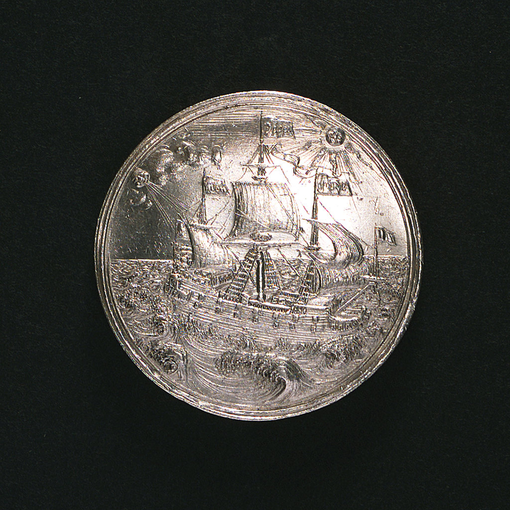 Detail of Medal commemorating the visit to Copenhagen of Princess Anna Sophia of Saxony, 1676; reverse by E.K. D