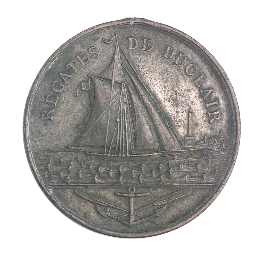 Detail of Medal commemorating the Duclair Regatta; obverse by unknown