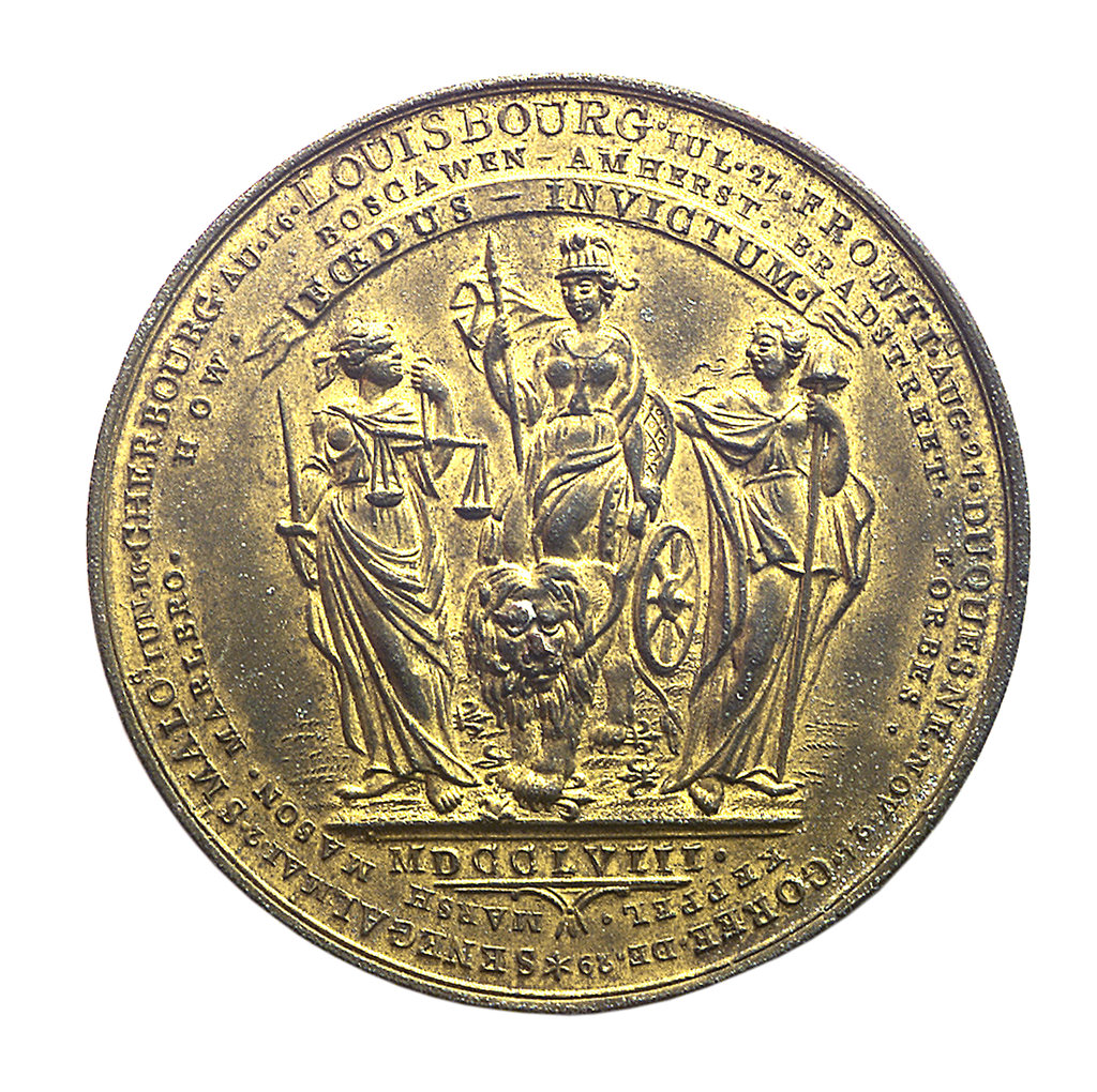 Detail of Medal commemorating the successes of 1758; reverse by Thomas Pingo