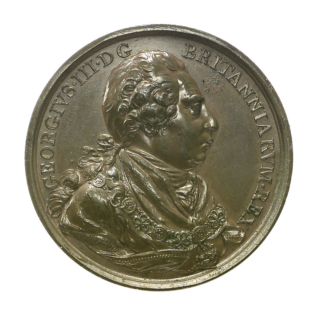 Detail of Medal commemorating the British Victories 1797-1809; obverse by W.S. Mossop