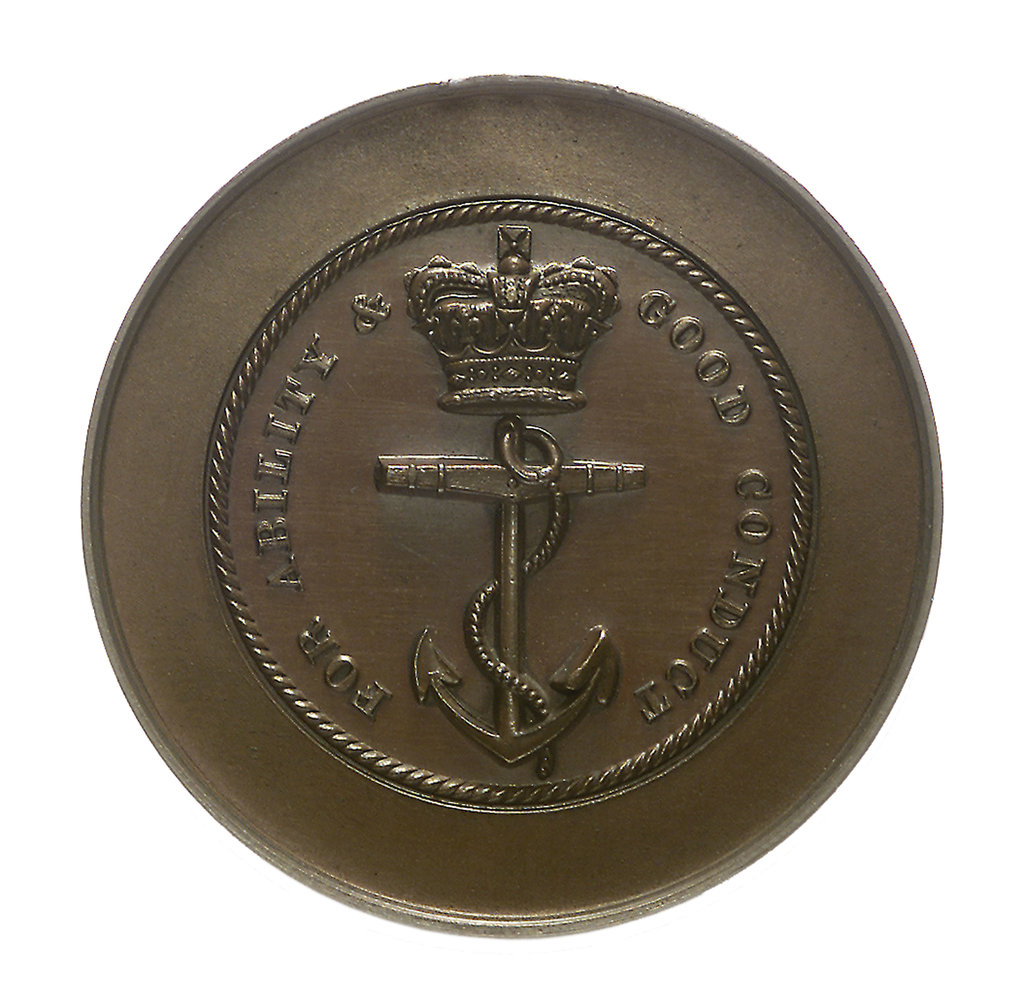 Detail of Trial piece, Naval Engineers medal; obverse by W. Wyon