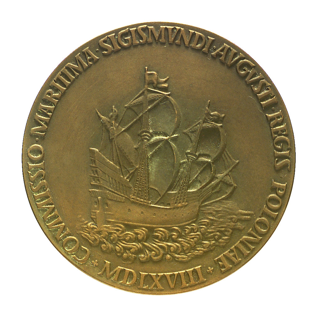 Detail of Medal commemorating 400th anniversary of Maritime Commission, Gdansk; obverse by unknown