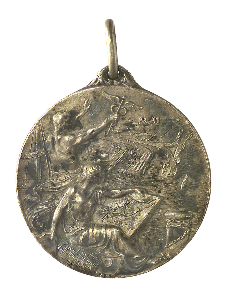 Detail of Medal commemorating Bahia Blanca centenary, 1928; obverse by unknown