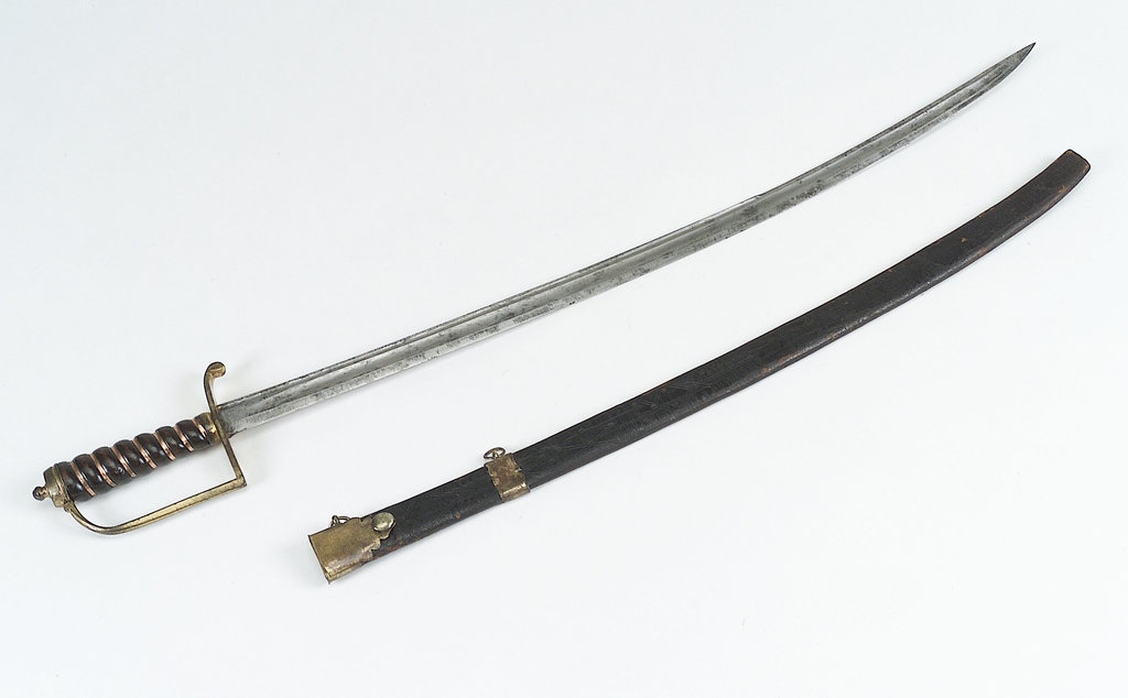 Detail of Stirrup hilted hanger by unknown