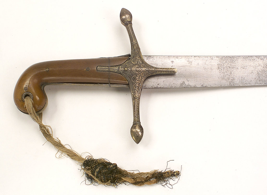 Detail of Scimitar which belonged to Captain Edward Crofton by unknown