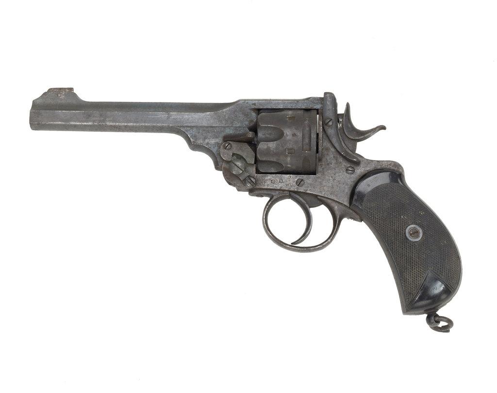 Detail of Webley Mark I** revolver by Webley & Scott Revolver & Small Arms Co.