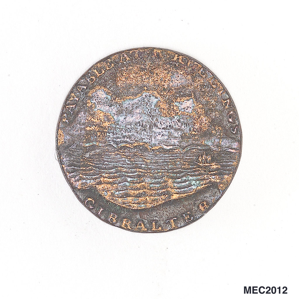 Detail of Gibraltar quart token by unknown