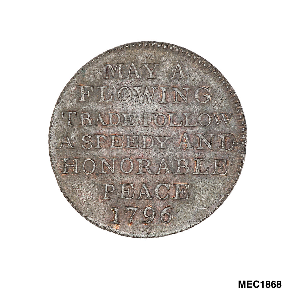 Detail of Token commemorating Admiral of the Fleet Richard Howe (1726-1799) by T. Wyon