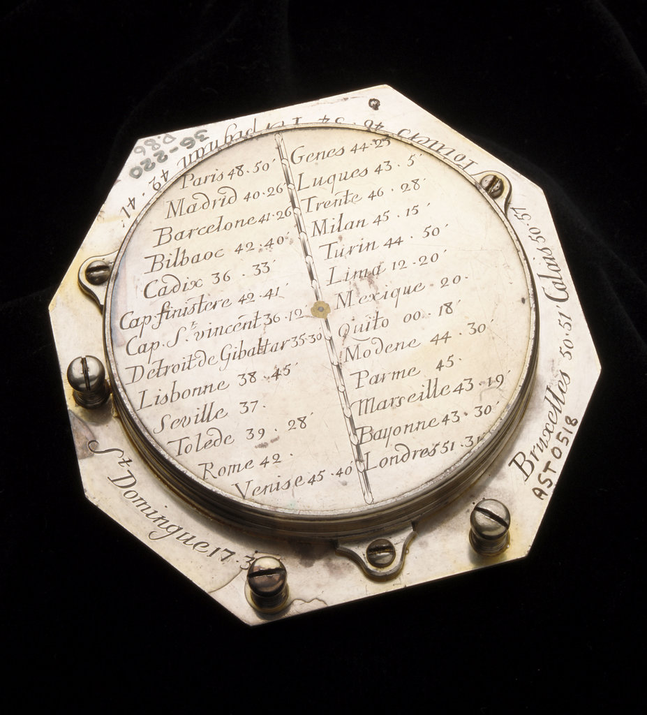 Detail of Augsburg dial for latitudes 0-75 North by Claude Langlois