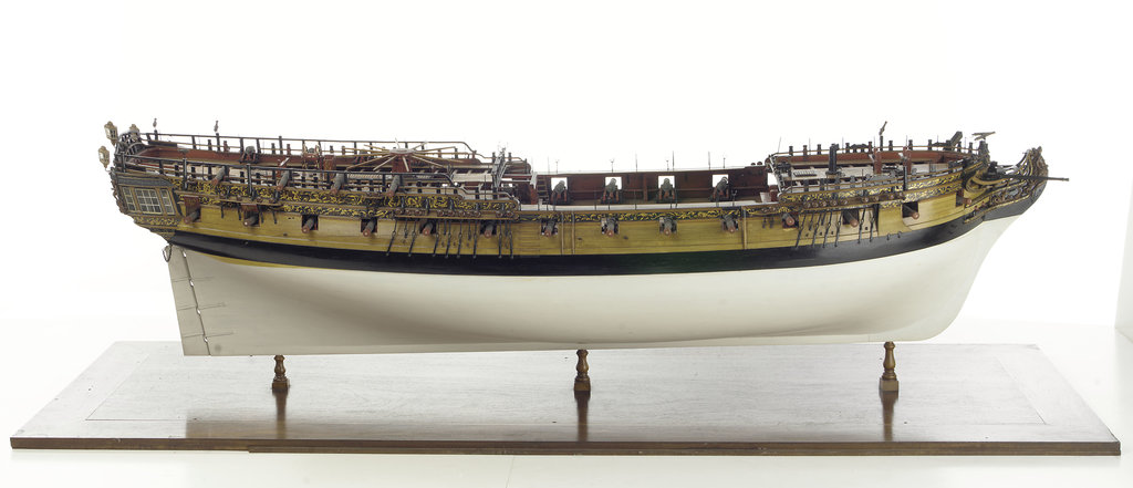 Detail of 'Amazon', starboard broadside by unknown