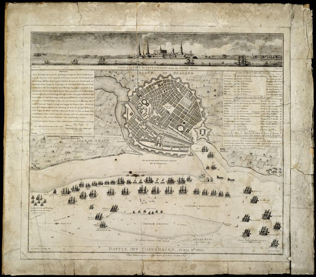 Detail of Battle of Copenhagen, 2 April 1801 by Francis Gibson
