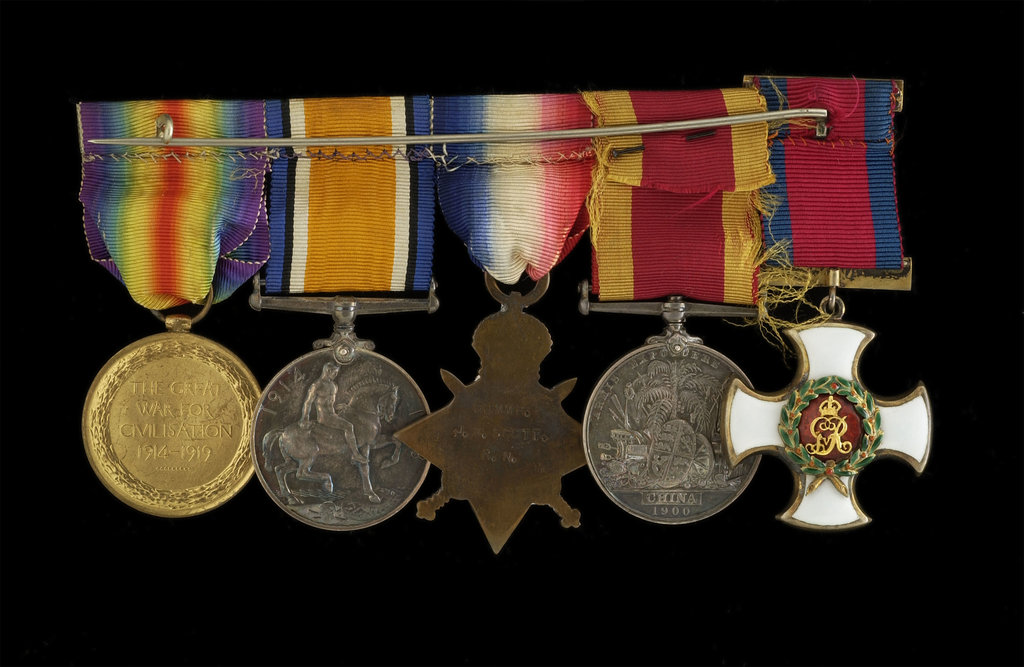 Detail of Medals awarded to Cdr John Wilfred Scott DSO RN (reverse, r to l, MED1333-1337) by W. Wyon