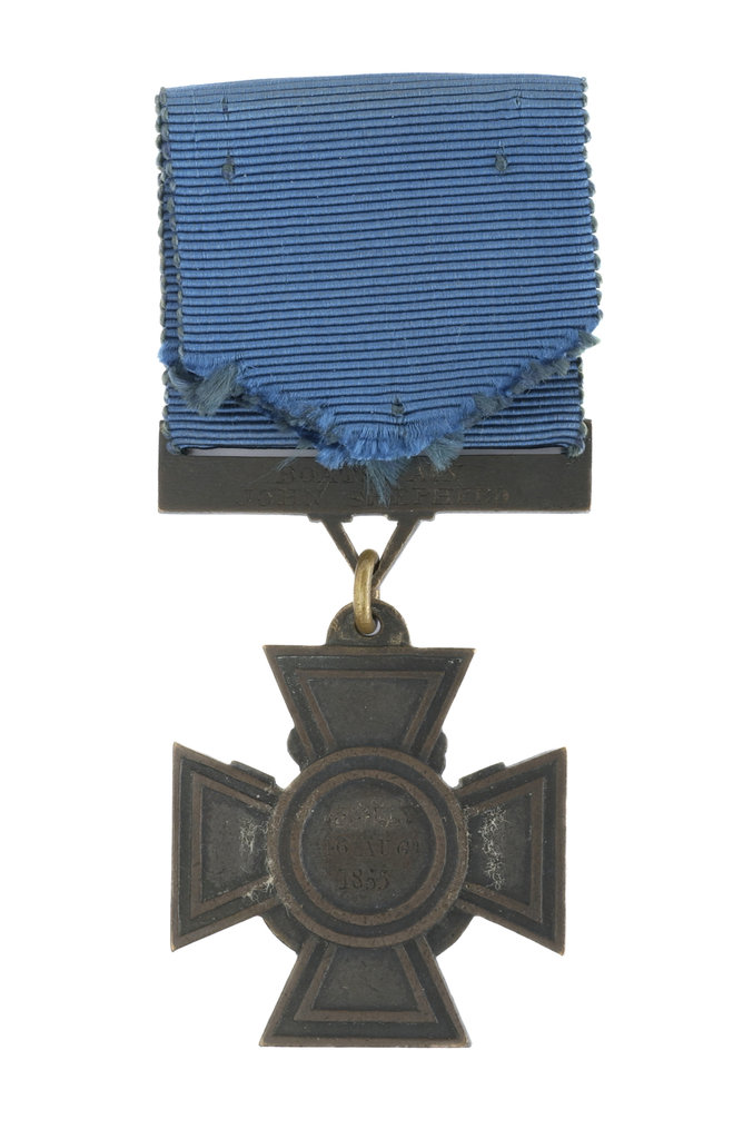 Detail of Victoria Cross, reverse by Hancocks & Co