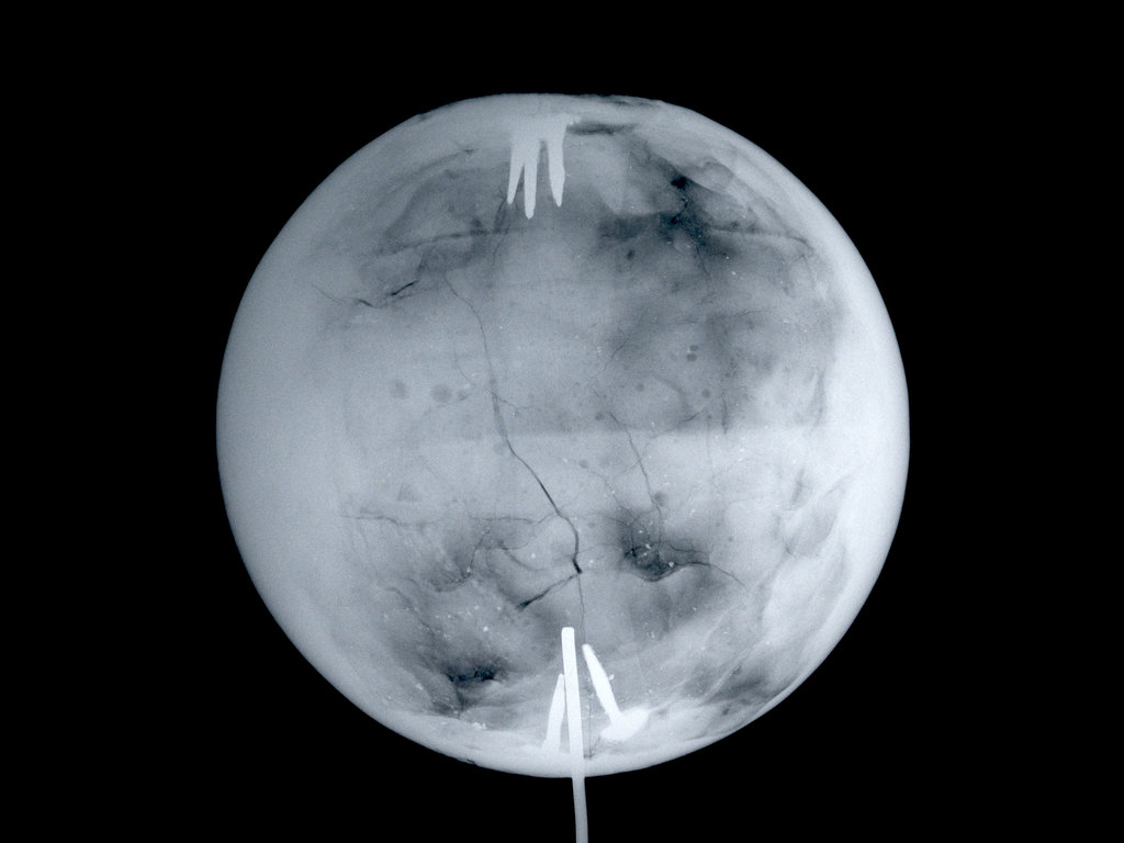 Detail of Globe x-ray by Herman Moll