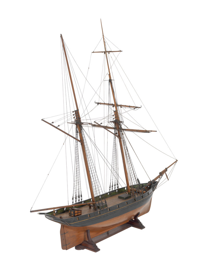 Detail of Armed schooner 'Globe' 1840 by unknown