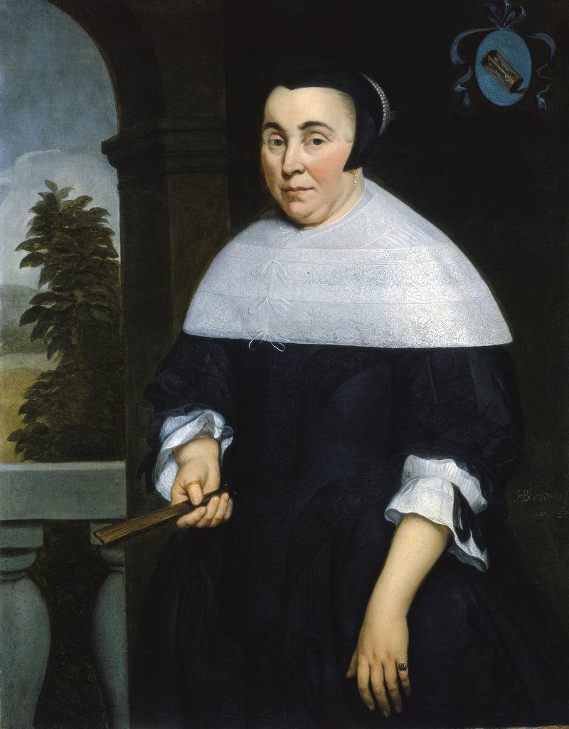 Detail of Portrait of Anna van Gelder by Hendrick Berckman