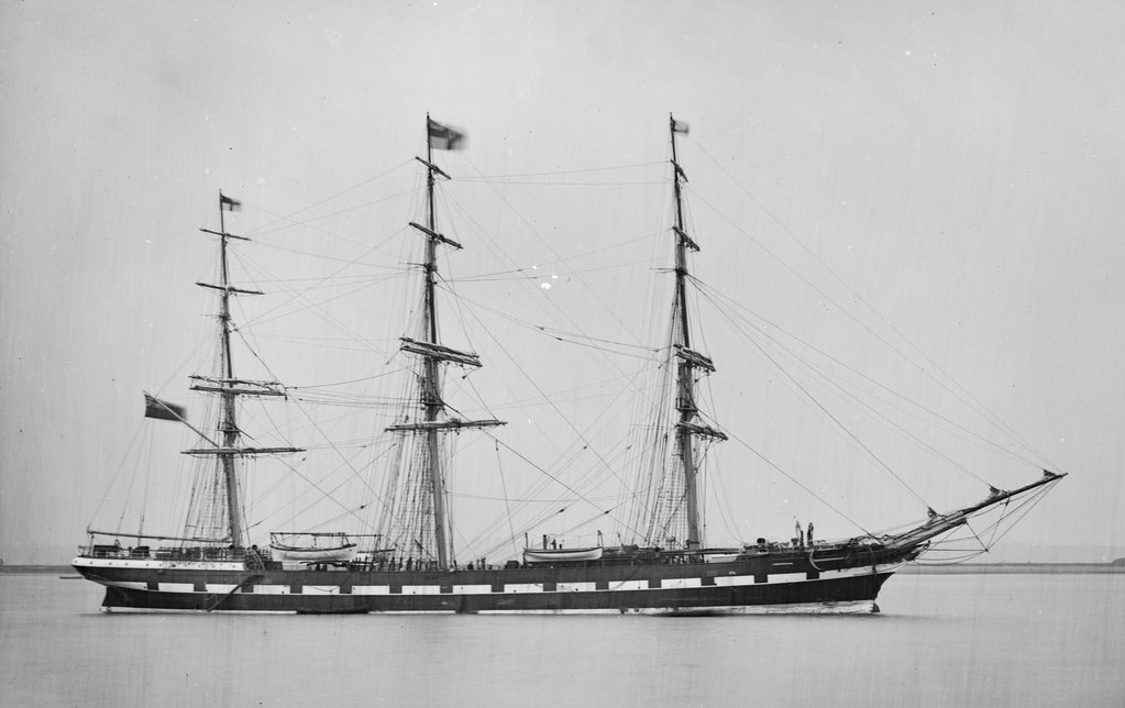 Detail of Photograph of the 'Camperdown' (Br, 1875) 13 April 1876 by unknown