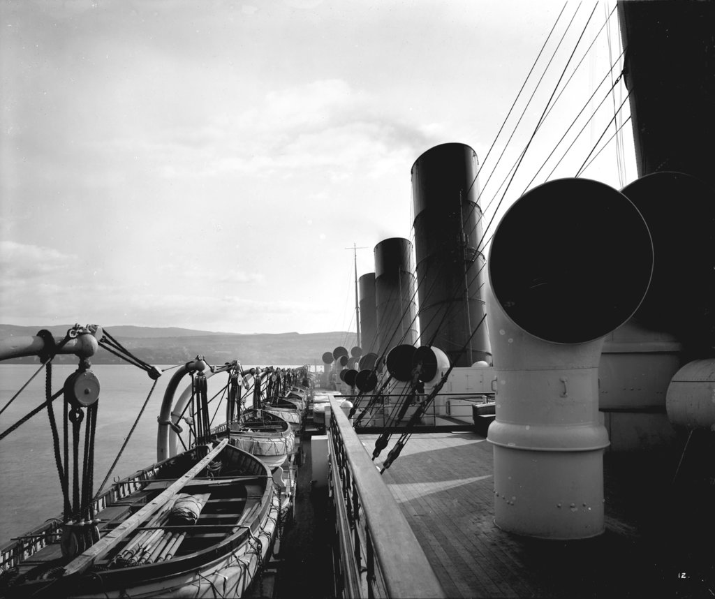 Detail of View from the Flying Bridge on the 'Aquitania' (1914) by Bedford Lemere & Co.