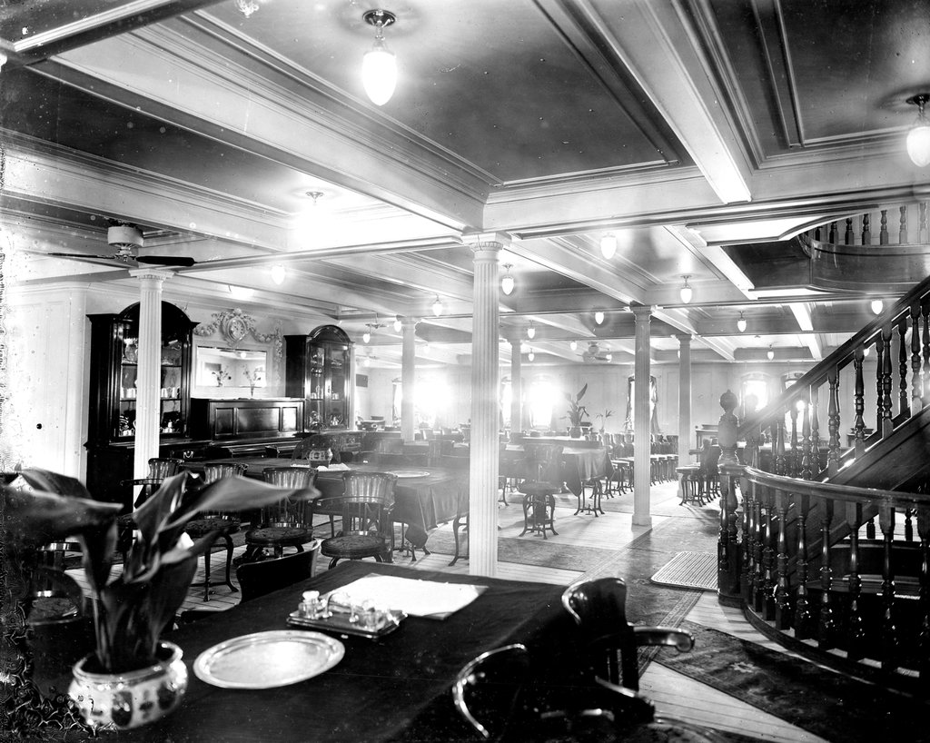 Detail of Second Class Dining Saloon on the 'Niagara' (1913) by Bedford Lemere & Co.
