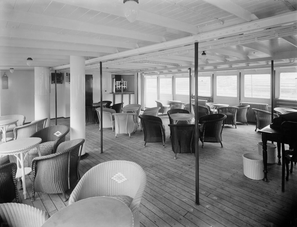 Detail of The verandah cafe of 'Lochfyne' (Br, 1931) by unknown