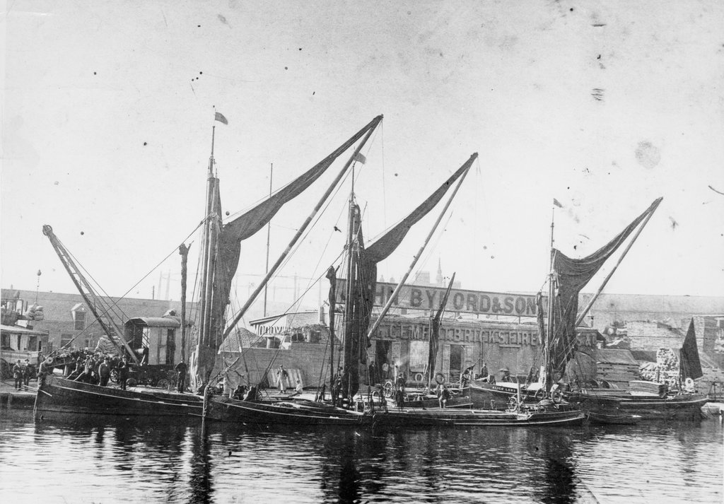 Detail of Barges at Bow Creek by unknown