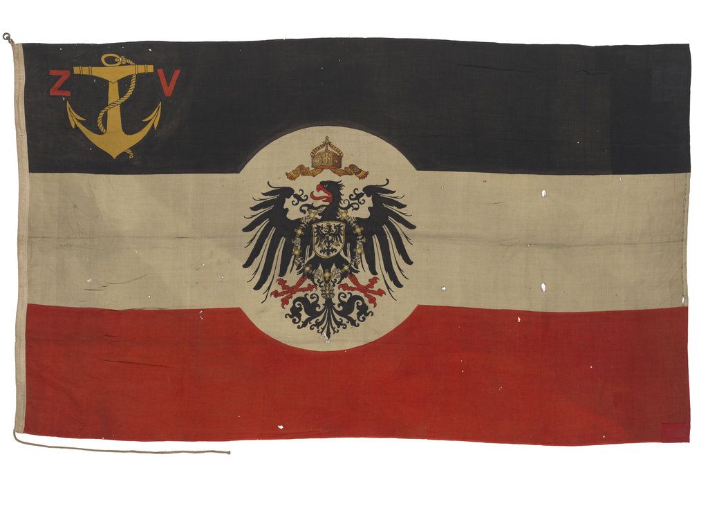 Detail of Ensign, Imperial German Customs Service by unknown