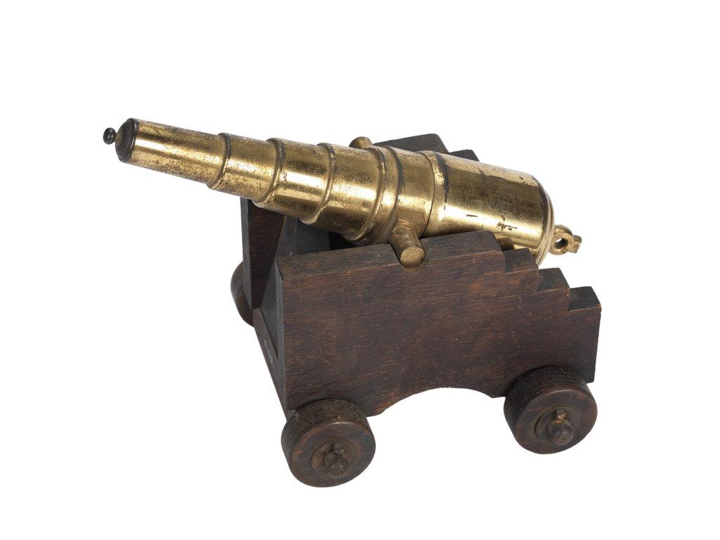 Detail of Ordnance model; Gun model by unknown
