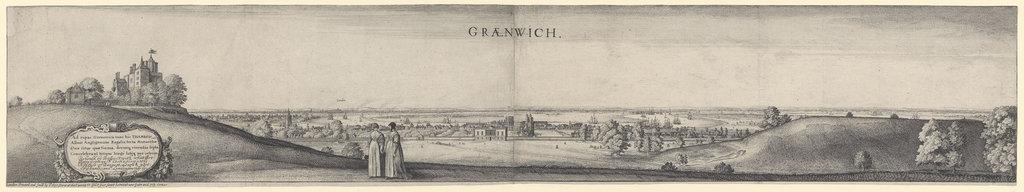 Detail of 'Graenwich' (Greenwich) by Wenceslaus Hollar