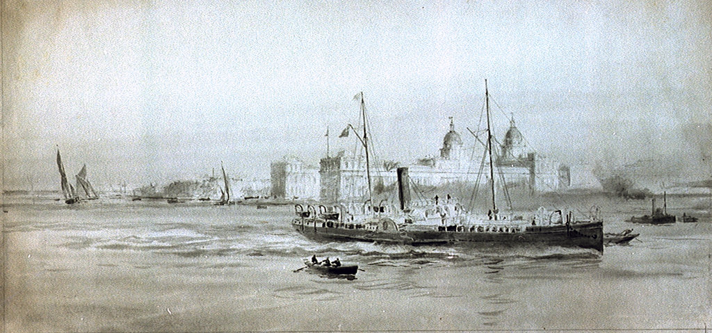 Detail of Greenwich by William Lionel Wyllie