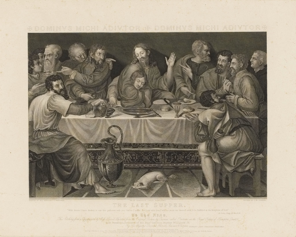 Detail of The Last Supper by Peltro William Tomkins