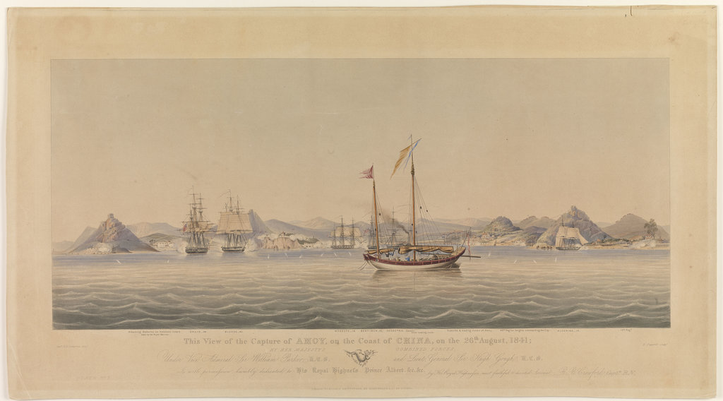 Detail of This View of the Capture of Amoy on the Coast of China, on the 26th August, 1841 by Her Majesty's Combined Forces by Henry Papprill